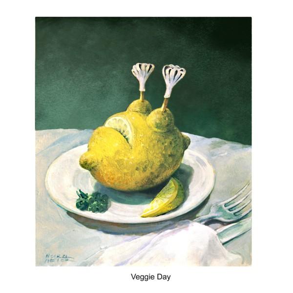 """Wandbild """"Veggi Day"""" - Rudi Hurzlmeier - 21. Deutscher Karikaturenpreis"""