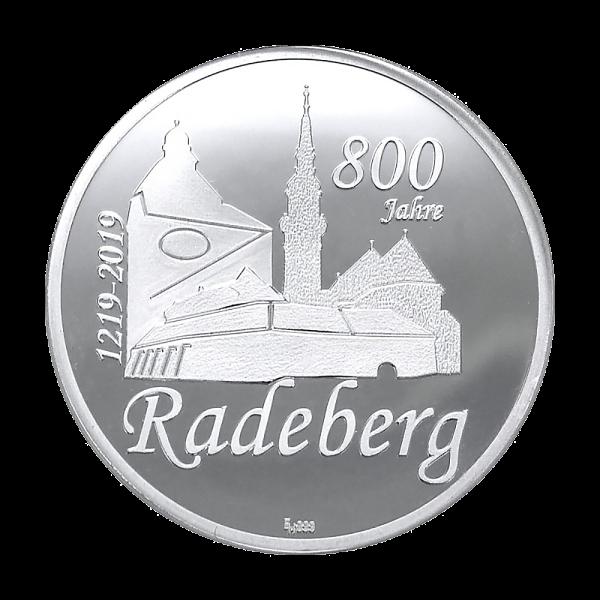 Feinsilbermedaille 800 Jahre Radeberg
