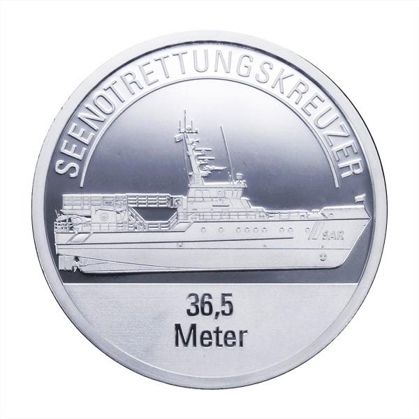 Sonderprägung Feinsilber – Die Seenotretter (DGzRS) – Seenotrettungskreuzer 36,5 Meter
