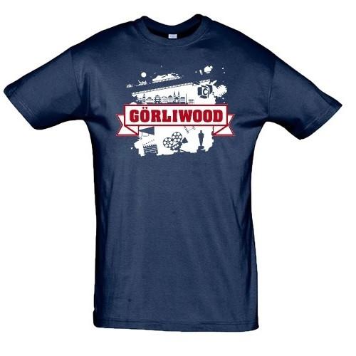"""T-Shirt """"Görliwood"""" blau"""