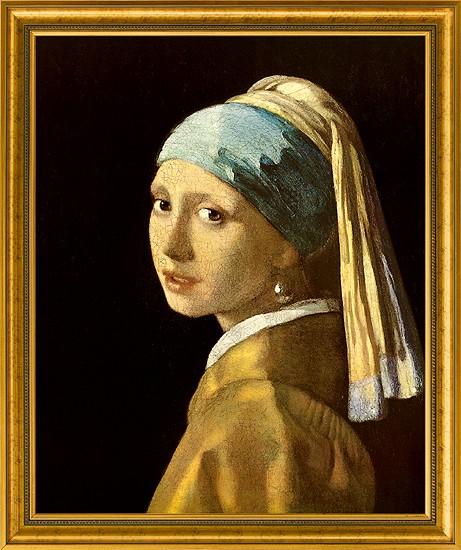 Jan Vermeer van Delft: Bild Das Mädchen mit dem Perlenohrring (1665)
