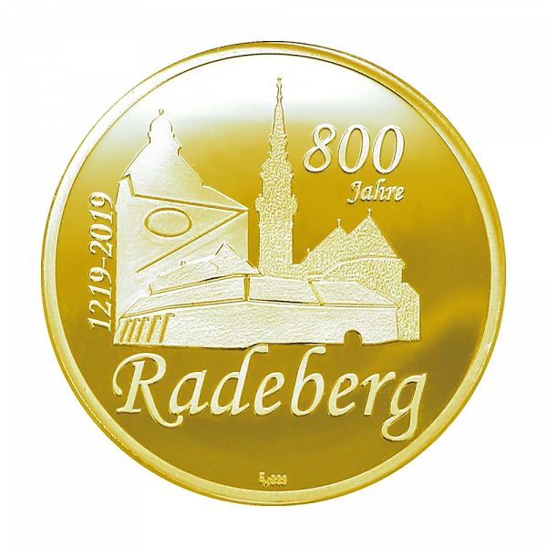 Feingoldmedaille 800 Jahre Radeberg