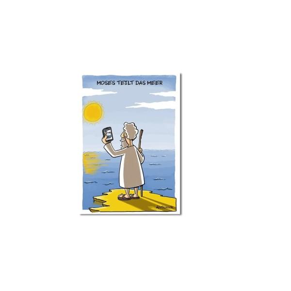 Magnet Moses teilt das Meer