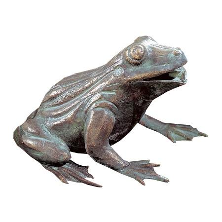 Gartenskulptur Wasserspeier Frosch Bronze