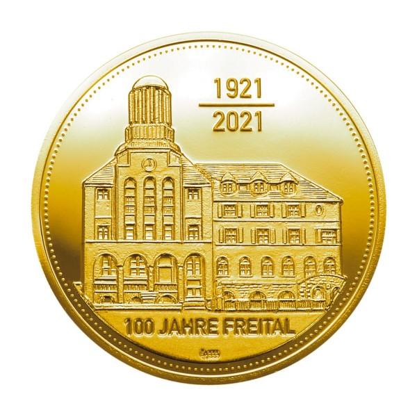 Sonderprägung Feingold - 100 Jahre Freital 2021