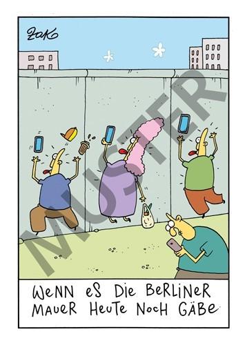 """Postkarte """"Mauer"""""""