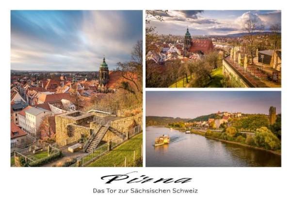 Postkarte Pirna - Sonnenstein (Motiv PO_Pirna_33)