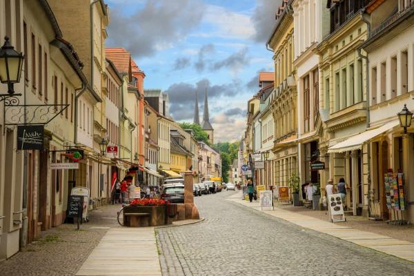 Wandbild Grimma - Die lange Straße (Motiv DMMTL09)