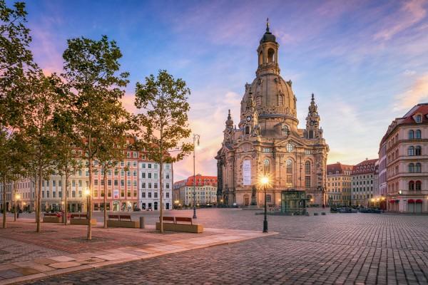 Wandbild Dresden - Herbststimmung auf dem Neumarkt (Motiv 00752)