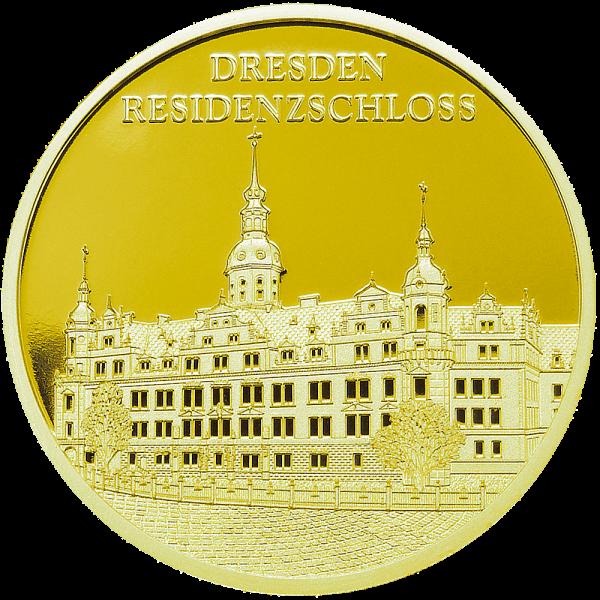 Sonderprägung Feingold Residenzschloss Dresden - Einzelmotiv