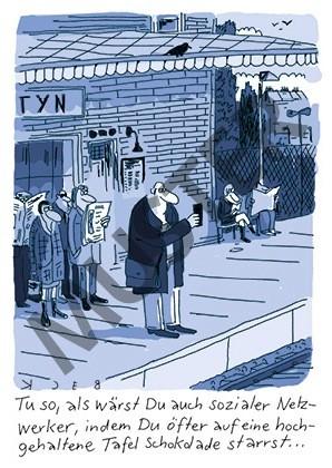 "Postkarte ""Sozialer Netzwerker"""
