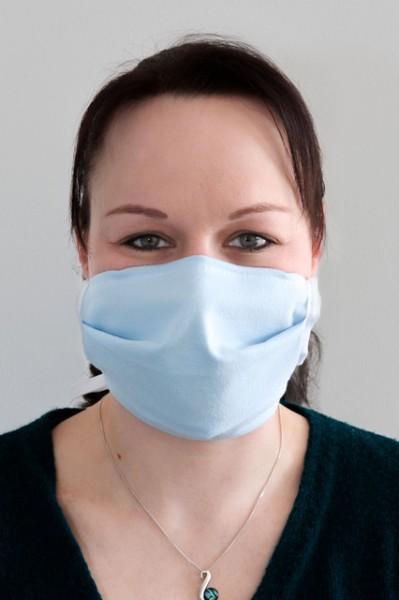 Gesichtsmaske - waschbar - hellbau
