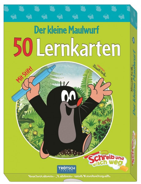 """Der kleine Maulwurf - 50 Lernkarten """"Schreib und wisch weg"""""""